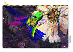 Carry-all Pouch featuring the digital art Mecha Whirlygig by Iowan Stone-Flowers