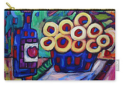 Carry-all Pouch featuring the painting Medicinal Marigolds And Wine by Dianne  Connolly
