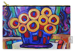 Carry-all Pouch featuring the painting Medicinal Marigolds by Dianne  Connolly