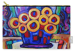 Medicinal Marigolds Carry-all Pouch by Dianne  Connolly
