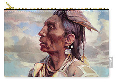 Carry-all Pouch featuring the painting Medicine Crow by Steve Henderson