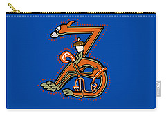 Medieal Squirrel Letter Z Carry-all Pouch by Donna Huntriss