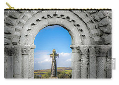 Medieval Arch And High Cross, County Clare, Ireland Carry-all Pouch