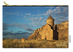 Medieval Areni Church Under Puffy Clouds, Armenia Carry-all Pouch