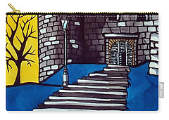 Carry-all Pouch featuring the painting Medieval Bastion -  Mace Tower Of Buda Castle Hungary By Dora Hathazi Mendes by Dora Hathazi Mendes