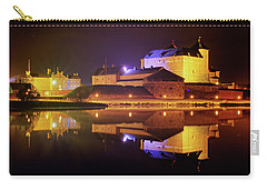 Medieval Castle By The Lake At Night Carry-all Pouch