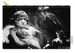 Carry-all Pouch featuring the photograph Medieval Fair Barbarian And Golden Eagle by Bob Christopher
