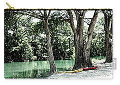 Carry-all Pouch featuring the photograph Medina River Landscape View by Ella Kaye Dickey