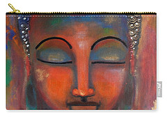 Meditating Buddha With A Blue Lotus Carry-all Pouch