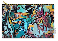 Meditating On And Contemplating Abstract Art Creates A Space Of Pure Perception Where Hope And Fear  Carry-all Pouch