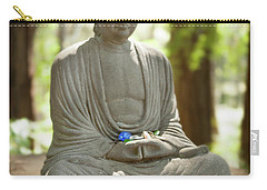 Carry-all Pouch featuring the photograph Meditation Buddha With Offerings by Carol Lynn Coronios