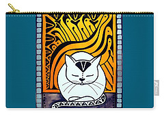 Meditation - Cat Art By Dora Hathazi Mendes Carry-all Pouch