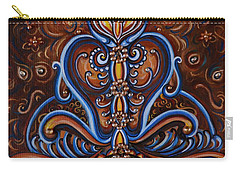 Carry-all Pouch featuring the painting Meditation by Harsh Malik