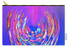 Carry-all Pouch featuring the photograph Meditation In Blue by Nareeta Martin