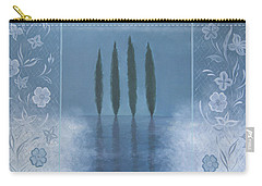 Carry-all Pouch featuring the painting Meditation by Tone Aanderaa
