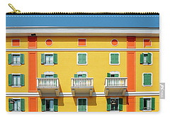 Mediterranean Colours On Building Facade Carry-all Pouch