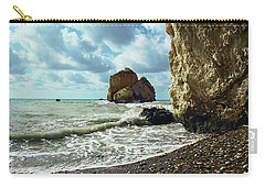 Mediterranean Sea, Pebbles, Large Stones, Sea Foam - The Legendary Birthplace Of Aphrodite Carry-all Pouch