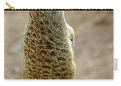 Meerkat Portrait Carry-all Pouch by Carlos Caetano