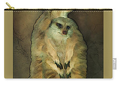 Meerkats Carry-all Pouch by Jack Zulli