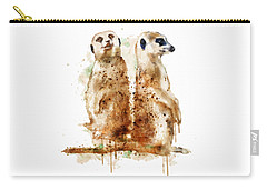 Meerkats Carry-all Pouch by Marian Voicu