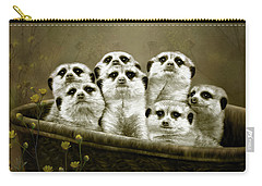 Meerkats Carry-all Pouch by Thanh Thuy Nguyen