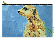 Carry-all Pouch featuring the painting Meerly Curious by Tom Riggs