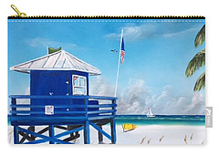 Meet At Blue Lifeguard Carry-all Pouch