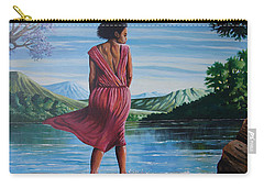 Carry-all Pouch featuring the painting Meet Me At The River by Anthony Mwangi