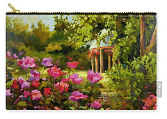 Carry-all Pouch featuring the painting Meet Me In The Garden by Chris Brandley