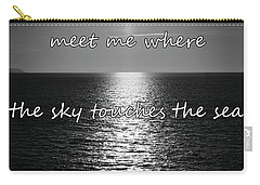 Meet Me Where The Sky Touches The Sea Carry-all Pouch