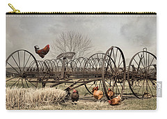 Carry-all Pouch featuring the photograph Meeting At Rusty Rake by Robin-Lee Vieira