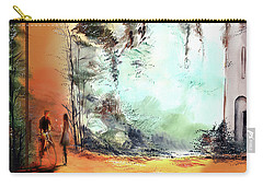 Carry-all Pouch featuring the painting Meeting On A Date by Anil Nene