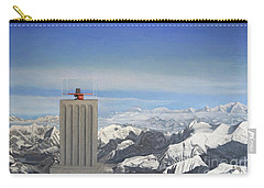 Meeting Table Oil On Canvas Carry-all Pouch