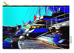 Carry-all Pouch featuring the photograph Mega Yachts by Rogerio Mariani