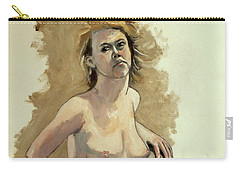Carry-all Pouch featuring the painting Megan by Ray Agius