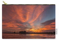Carry-all Pouch featuring the photograph Mekong Sunset 3 by Werner Padarin