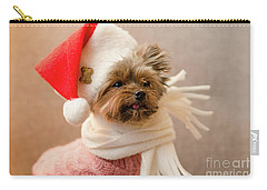 Melanie In Christmas Hat Carry-all Pouch