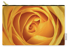Carry-all Pouch featuring the photograph Mellow Yellow Rose Square by Terry DeLuco