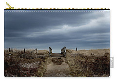 Carry-all Pouch featuring the photograph Melmerby Beach Boardwalk by Kathleen Sartoris
