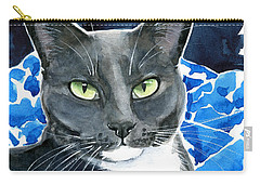 Melo - Blue Tuxedo Cat Painting Carry-all Pouch