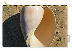 Carry-all Pouch featuring the photograph Melon Shell Voluta Aethiopica by Frank Wilson