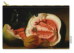 Melons And Morning Glories  Carry-all Pouch by Raphaelle Peale