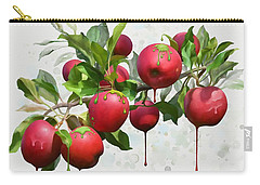 Carry-all Pouch featuring the digital art Melting Apples by Ivana Westin