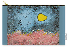 Carry-all Pouch featuring the painting Melting Moon Over Drifting Sand Dunes by Ben Gertsberg