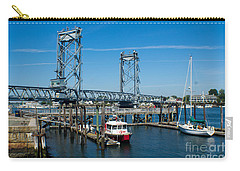 Memorial Bridge Portsmouth Carry-all Pouch by Kevin Fortier