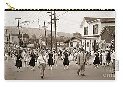 Memorial Day Parade Ashley Pa With Train Station And The Huber Colliery In Background 1955 Carry-all Pouch