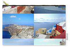 Memories From Santorini Carry-all Pouch by Ana Maria Edulescu