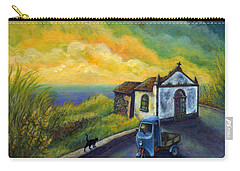 Memories Neath A Yellow Sky Carry-all Pouch by Retta Stephenson