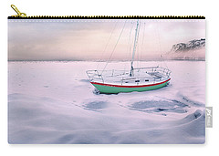 Carry-all Pouch featuring the photograph Memories Of Seasons Past - Prisoner Of Ice by John Poon