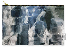 Memory Hotel - Dark Canvas Abstract Art Carry-all Pouch